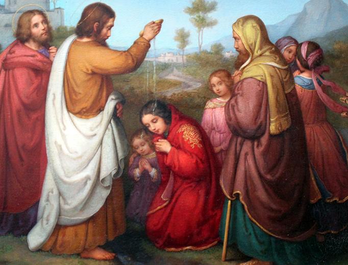 "Marie Ellenrieder, ""The Baptism of Lydia,"" 1861"