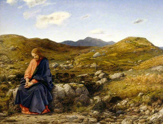 """William Dyce, """"Man of Sorrows"""", 1860"""