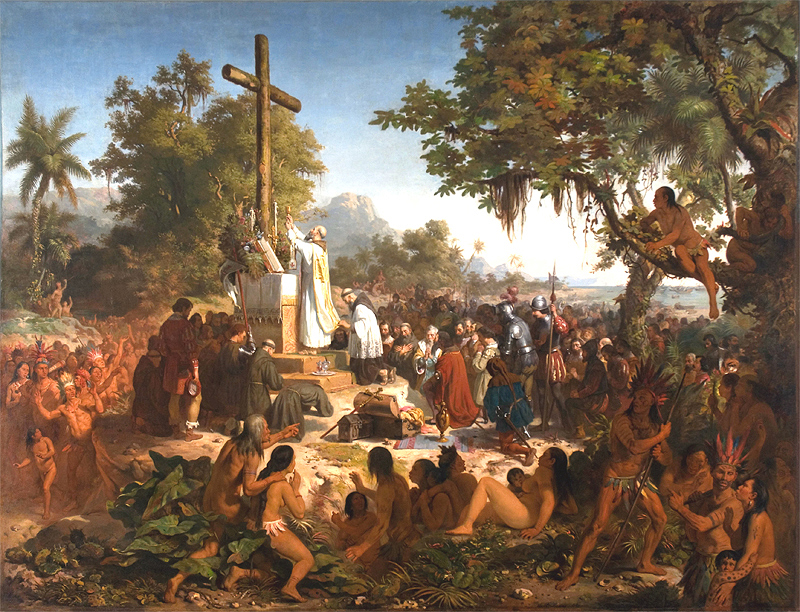 """Victor Meirelles, """"The First Mass in Brazil,"""" 1860"""