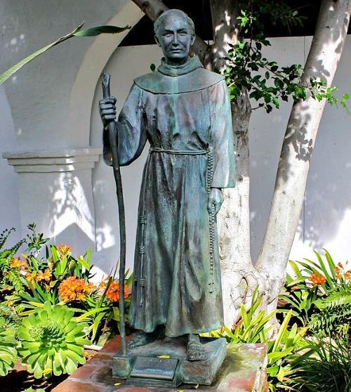 Statue of Blessed Junípero Serra at the Mission San Diego de Alcalá, San Diego