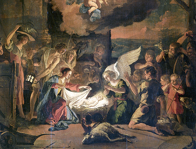 "Abraham Hondius, ""The Adoration of the Shepherds"", 1663"