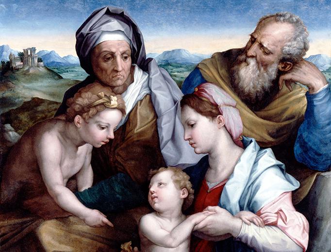 """Giorgio Vasari (1511–1574) and Andrea del Sarto (1486–1530), """"The Holy Family"""", 16th century"""