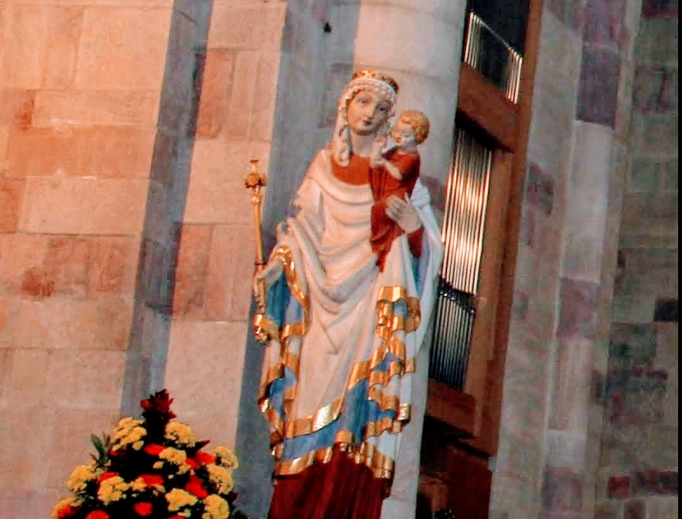 The Blessed Mother has a place of honor in the Speyer, Germany, cathedral.