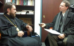 Russian Orthodox Metropolitan Hilarion of Volokolamsk during an interview at St. Vladimir's Orthodox Theological Seminary in Yonkers, N.Y.