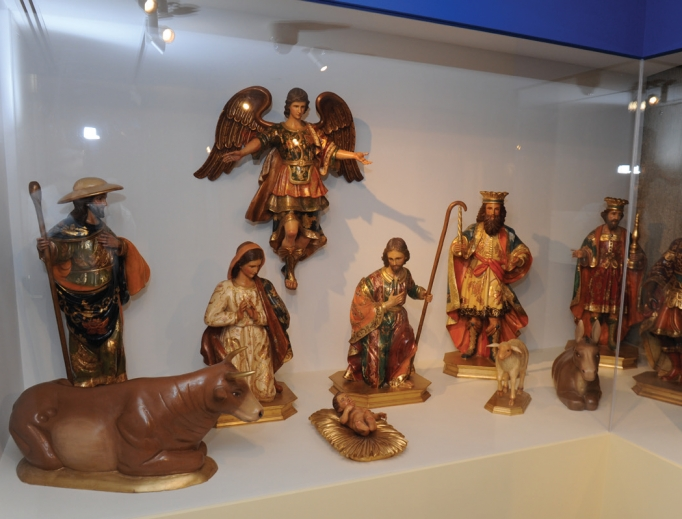 Highlights of the exhibit include a hand-carved Mexican Nativity replica of a crèche originally displayed at the Vatican; a Holy Family trio crafted from intricately folded paper and on loan from St. Joseph's Oratory of Mount Royal in Canada; and a Kenyan-made crèche formed from a gourd, straw, wire, rubber, shell, banana bark and shoe polish.