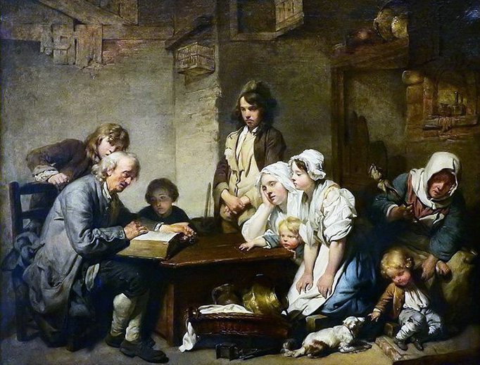 "Jean-Baptiste Greuze, ""Reading the Bible"", 1755"