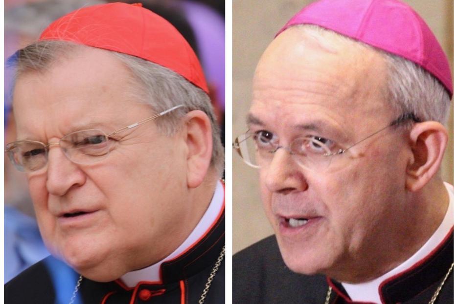 Cardinal Raymond Burke and Bishop Athanasius Schneider.