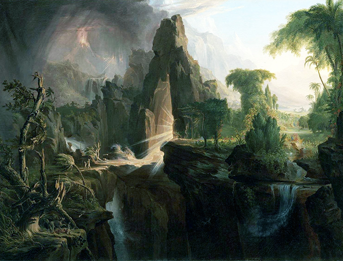 "Thomas Cole, ""Expulsion from the Garden of Eden,"" 1828"