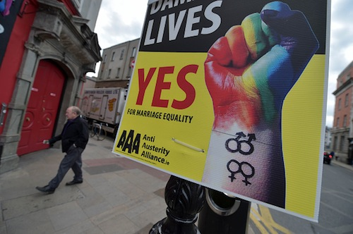 Ireland holds referendum on same-sex 'marriage' May 22.