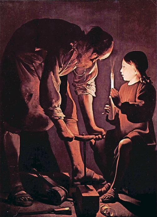 St. Joseph the Carpenter, by Georges de La Tour.