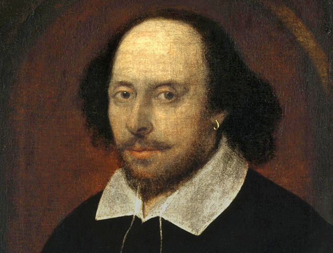 The 'Chandos portrait' of Shakespeare in the National Portrait Gallery