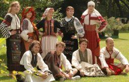 Ukrainian Catholic University students in traditional Ukrainian dress.