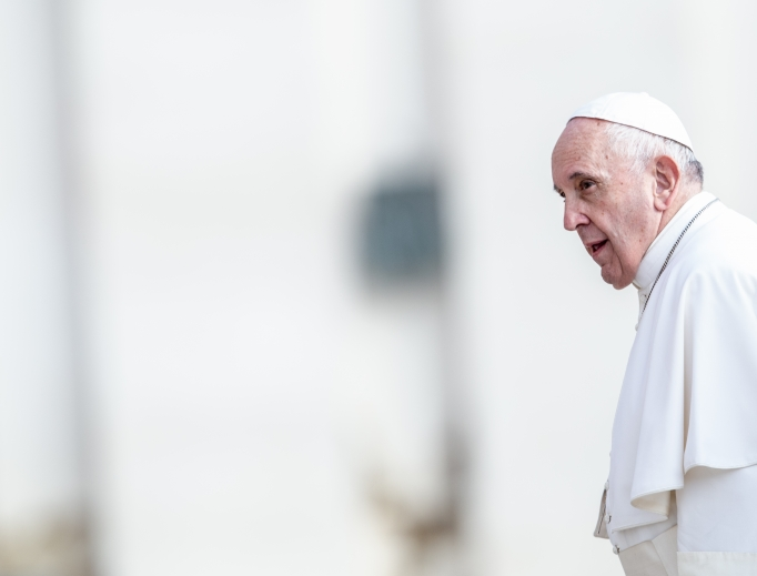 Pope Francis attends his Sept. 25 general audience.