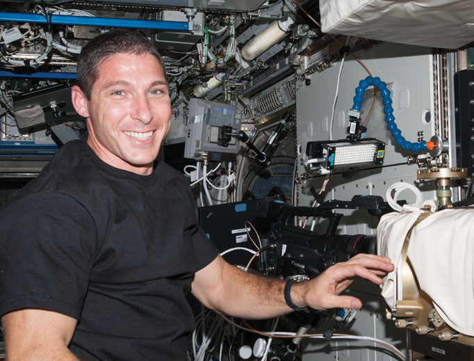 Mike Hopkins shows what life is like in space.