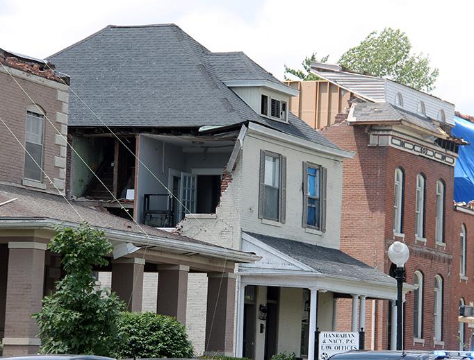 Tornado damage in Jefferson City, Missouri