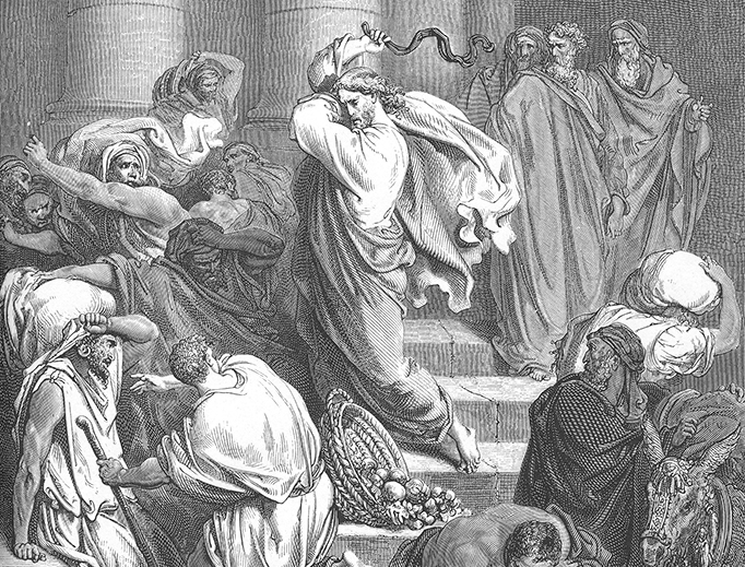 """Gustav Doré (1832-1883), """"The Cleansing of the Temple"""""""