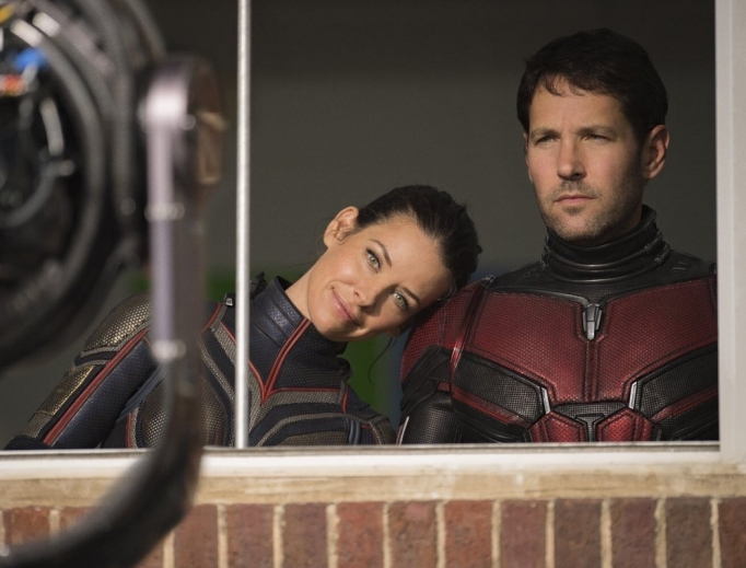 The Wasp (Evangeline Lilly) and Ant-Man (Paul Rudd) team up again.