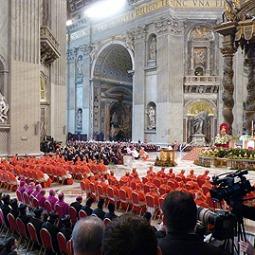 Consistory of cardinals held Nov. 4, 2012.