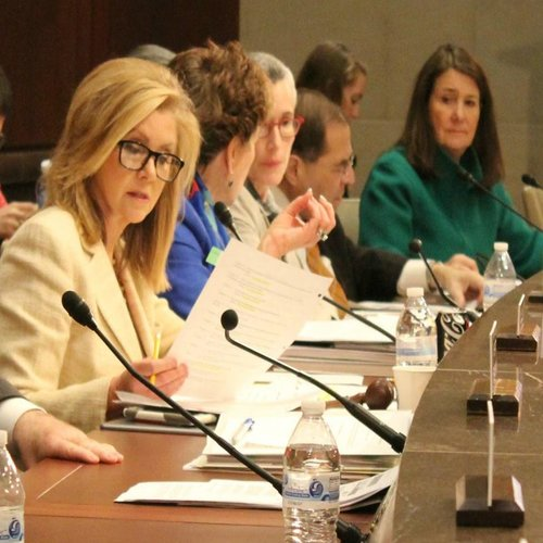 Rep. Marsha Blackburn, R-Tenn., chair of the Select Investigative Panel on Infant Lives, at the April 20 hearing.