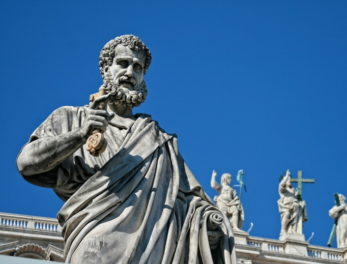 Statue of St. Peter at the Vatican