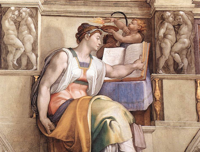 """Michelango, """"The Erythraean Sibyl"""" from the Sistine Chapel, 1509"""