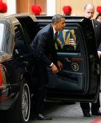 President Obama arrives at the Vatican.