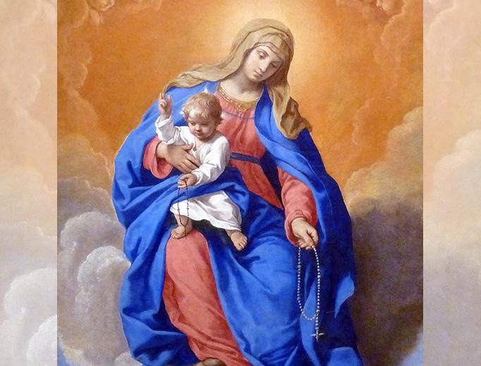 "Simone Cantarini (1612-1648), ""Madonna of the Rosary"""