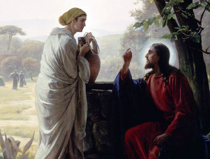 "Carl Heinrich Bloch (1834-1890), ""Christ and the Woman at the Well"""