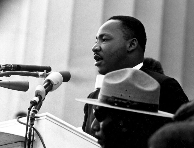 Martin Luther King Jr. delivers his 'I Have a Dream …' speech.