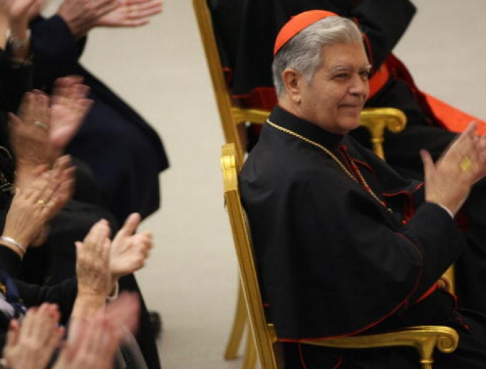 Cardinal Jorge Liberato Urosa Savino of Venezuela, shown March 27, 2006, at the Vatican after the March 25 consistory that created him a cardinal, says the Amazon synod presents 'the danger that some people want to use the pastoral needs of some people of Amazonia as a pretext to introduce major reforms in the Church and in other places.'