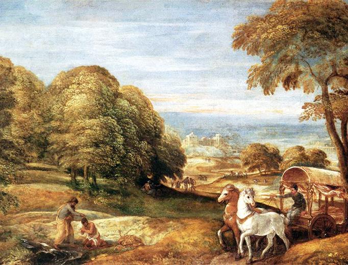 "Lambert Sustris, ""The Baptism of the Ethiopian Eunuch by the Deacon Philip"", between 1545 and 1550"