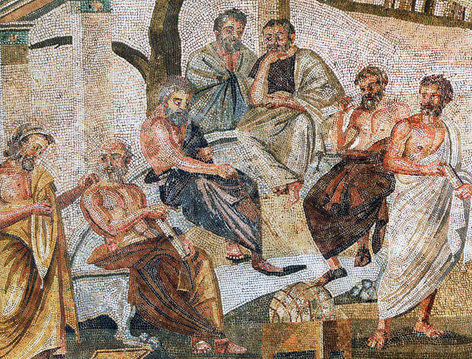 The Plato's Academy Mosaic is a Roman mosaic of the 1st century B.C. from Pompeii, now at the Museo Nazionale Archologico in Naples.