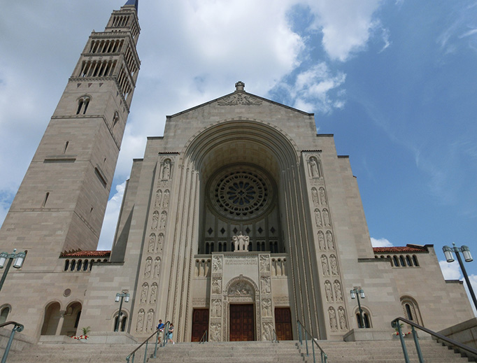 The Basilica of the National Shrine of the Immaculate Conception in Washington, DC.