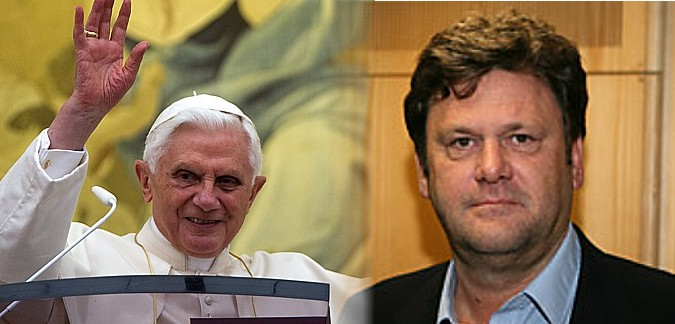 Benedict XVI and the German author Peter Seewald