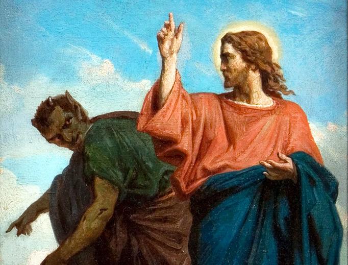 """Félix Joseph Barrias (1822-1907), """"The Temptation of Christ by the Devil"""""""