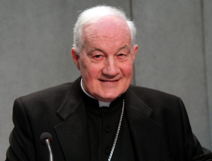Cardinal Marc Ouellet, prefect of the Congregation for Bishops, attends the annual new bishops' conference, 'Witnesses of the Risen Lord,' at the Holy See Press Office Feb. 1, 2016.