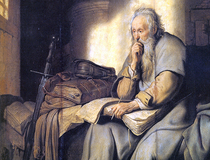 """Rembrandt, """"Saint Paul in Prison"""", 1627"""