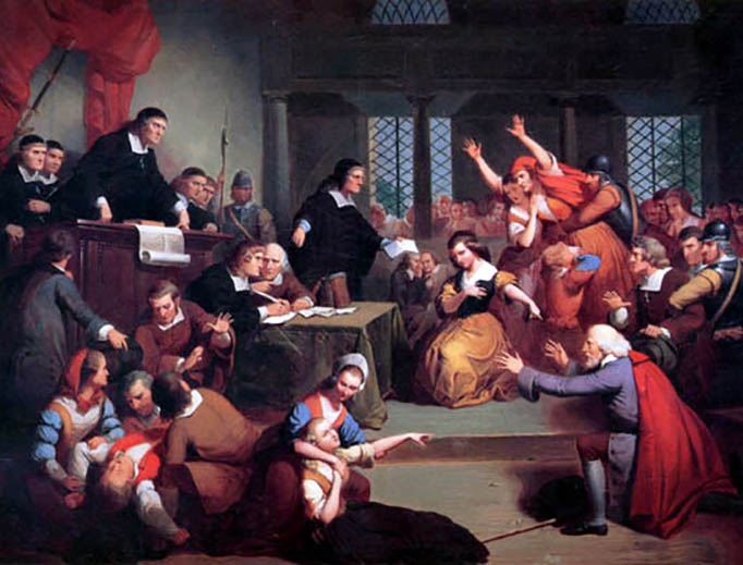 "Thomkins H. Matteson (1813-1884), ""The Trial of George Jacobs, August 5, 1692"""