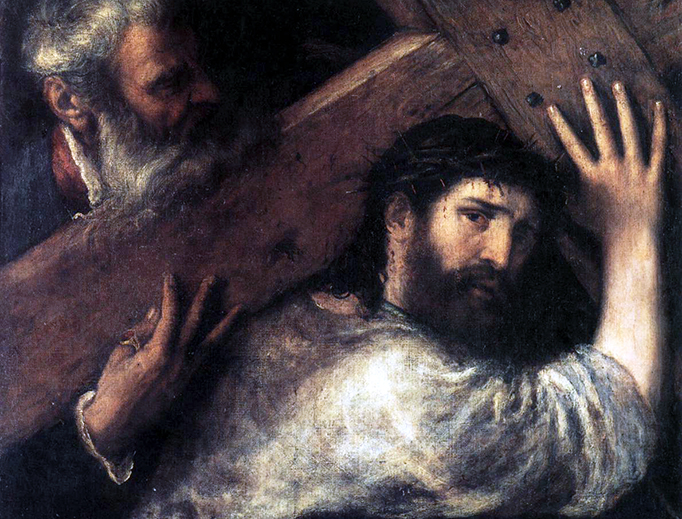 """Titian, """"Christ Carrying the Cross"""", c. 1565"""