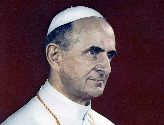 Official portrait of Pope Paul VI, who promulgated Humanae Vitae in 1968.