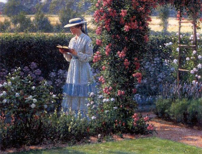"""Edmund Leighton, """"Sweet Solitude,"""" 1919"""