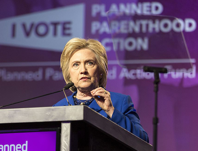 Hillary Clinton speaks at a Planned Parenthood event on June 10, 2016.