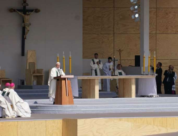 Pope Francis celebrates Mass in Santiago, Chile, Jan. 16.