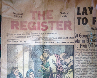 An old issue of the Register from 1958. Courtesy of Colby Kent
