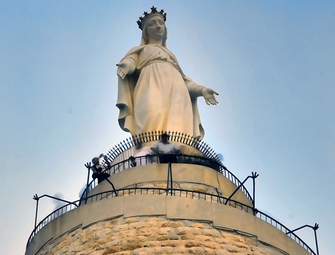 The Shrine of Our Lady of Lebanon in Harissa, Lebanon.