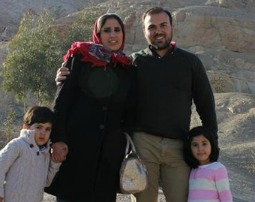 Imprisoned pastor Saeed Abedin with his family
