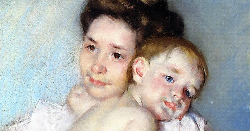 "Mary Cassatt (1844-1926), ""The Young Mother"""