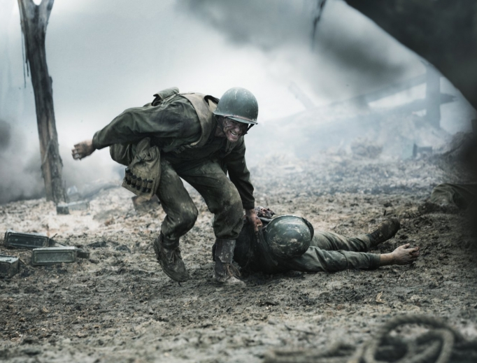 BATTLEFIELD BRAVERY. Andrew Garfield portrays Desmond Doss, the first conscientious objector to receive the Medal of Honor.