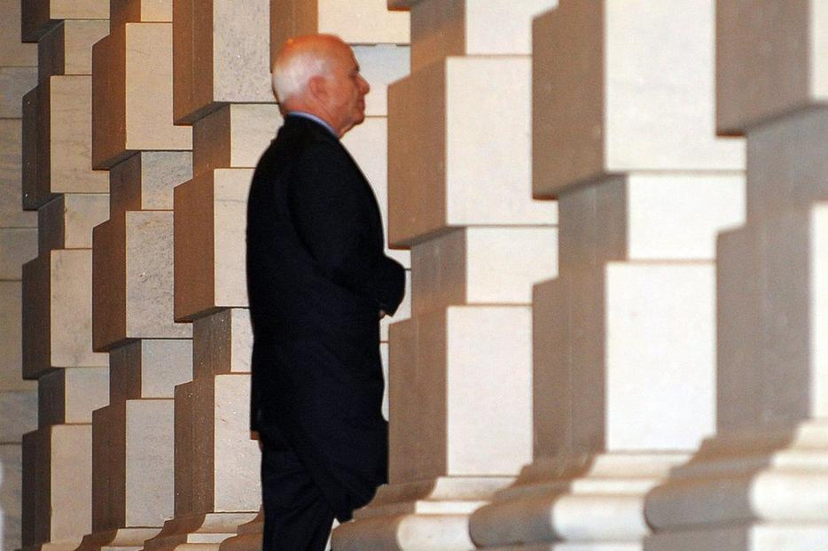 Sen. John McCain enters the Capitol Oct. 1.