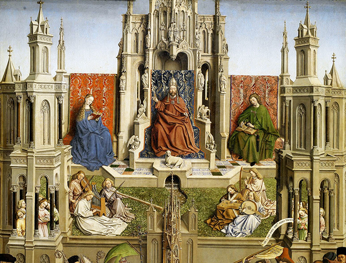 "Pupil of Jan van Eyck, ""The Fountain of Life,"" ca. 1445"